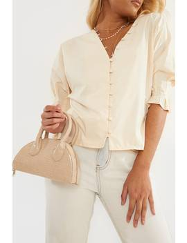 Ivory Short Sleeve Shirt by In The Style