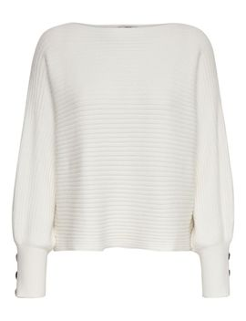 Boatneck Dolman Sleeve Sweater by Only