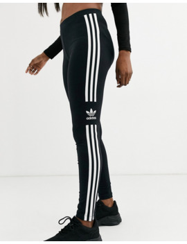 Adidas Originals – Adicolor Locked Up – Schwarze Leggings Mit Logo by Asos