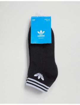 Adidas Originals – Schwarze Knöchelsocken Mit Trefoil Logo Im 3er Pack by Asos