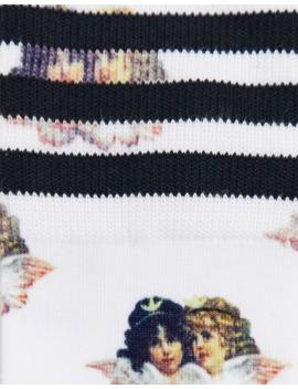 Adidas X Fiorucci – Socken Mit Drei Streifen Und Engel Motiv by Asos