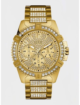 Rhinestone Case Watch by Guess