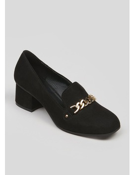 Wide Fit Chain Block Heel Shoes by Matalan