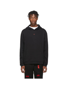 Ssense Exclusive Black Layering Hoodie by 424
