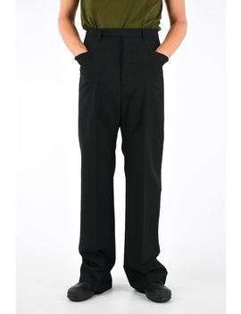 Virgin Wool Tux Cropped Astaires Pants by Rick Owens