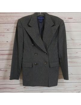 Ralph Lauren Gray Double Brested Wool Blazer by Ralph Lauren