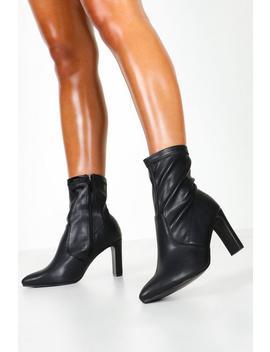 wide-fit-flat-heel-sock-boots by boohoo