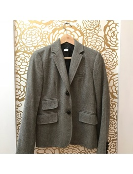 J. Crew Light Grey Wool Blazer Jacket Two Buttons by J. Crew