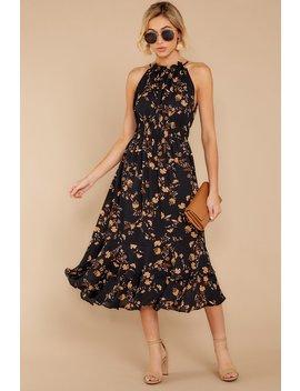 Budding Romance Black Floral Print Dress by Dress Forum