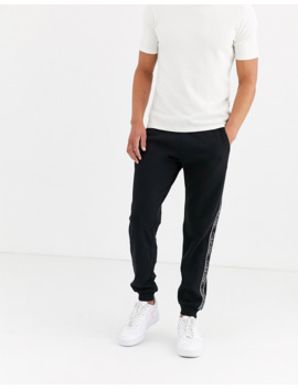 Calvin Klein Exclusive To Asos Side Tape Logo Jogger In Black by Calvin Klein