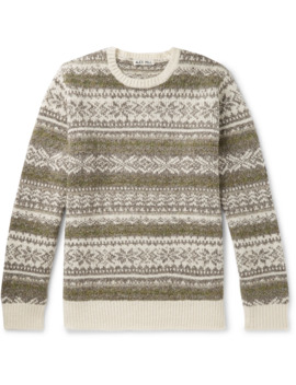 Fair Isle Knitted Sweater by Alex Mill
