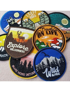 The Beautiful Scenery Embroidered Patch Iron On Patches  by Wish