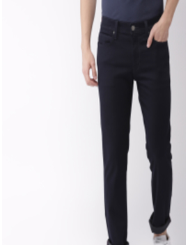 Men Navy Blue 511 Slim Fit Low Rise Clean Look Stretchable Jeans by Levis