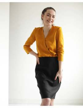 acacia-linen-shirt,-burnt-orange-linen-shirt,-linen-shirt-women,-shirts-for-women,--linen-top,-womens-linen-clothing,-linen-blouse by etsy