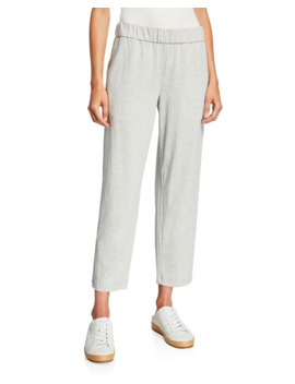 Speckle Knit Tapered Ankle Pants by Eileen Fisher