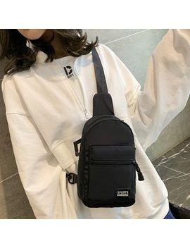 Faneur   Applique Nylon Sling Bag by Faneur