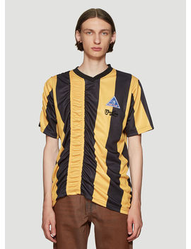 Ruched Football T Shirt In Yellow by Martine Rose
