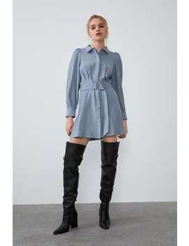 Vestido Camisero CinturÓn by Zara