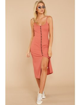 Check The Agenda Rose Coral Midi Dress by Dress Forum