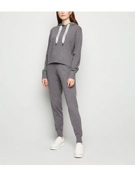 Jogging Gris Foncé En Maille by New Look