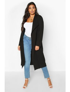 Plus Pocket Thick Duster Coat by Boohoo