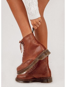 Dr. Martens 1460 Pascal 8 Eye Boot Tan by Dr Martens