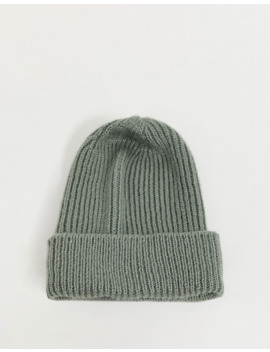 Stitch & Pieces Exclusive Gray Oversized Beanie Hat by Stitch & Pieces'