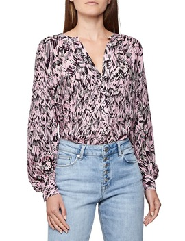 Gwen Feather Print Blouse by Reiss