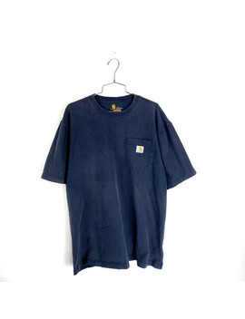 Carhartt Faded Navy T Shirt Size Large Tall Blue by Vintage  ×  Carhartt  ×  Streetwear  ×
