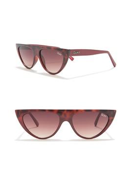 Run Away 47mm Narrow Cat Eye Sunglasses by Quay Australia
