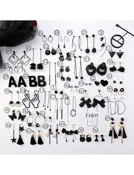 2019 New Korean Girl Earrings Black Geometry Tassel Drop Earrings For Women Fashion Cute Jewelry Accessories by D Hgate.Com