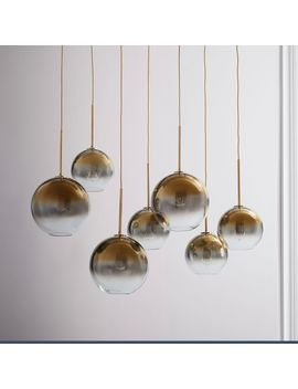 "Sculptural Glass 7 Light Globe Chandelier   Metallic Ombre (44.5"") by West Elm"