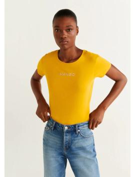 Tričko S Vyšívaným Logem by Mango