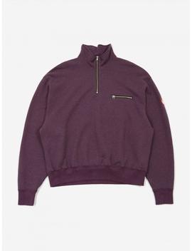 C.E Cav Empt Exterior Half Zip Sweatshirt   Purple by Cav Empt