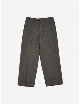 Wide Leg Wool Trouser   Grey by Beams Plus