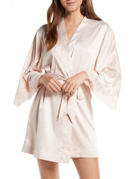 Juliette Short Satin Charmeuse Robe by Homebodii