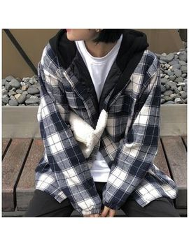 Goub   Plaid Hooded Jacket by Goub