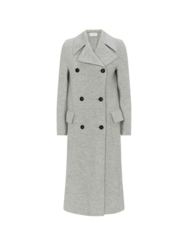 Boiled Wool Double Breasted Coat by Harris Wharf London