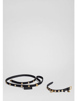 Medusa Collar And Leash Set by Versace