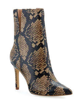 Charles David Dashing Snake Print Leather Booties by Charles David