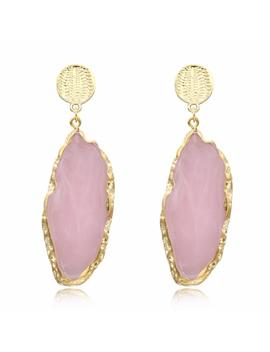Dayoff Woman Jewelry Boho Korea Irregular Drop Dangle Earring Gold Earrings For Women Indian Large Resin Earings 2018 E176 1 M76 by D Hgate.Com