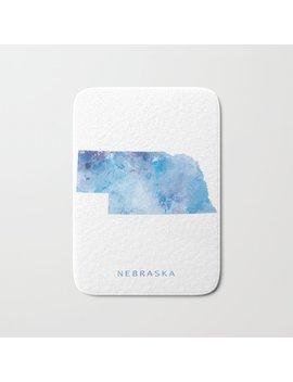 Nebraska Bath Mat by Society6