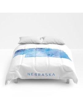Nebraska Comforters by Society6