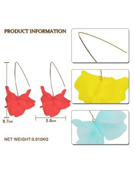 Best Lady New Fashion Resin Flowers Drop Earrings For Women 9 Colors Bohemian Cute Girls Party Gift Korean Dangle Earrings by D Hgate.Com