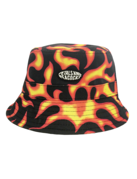 Flames Bucket Hat by Petals And Peacocks