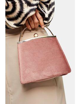 Garland Nude Velvet Frame Bag by Topshop