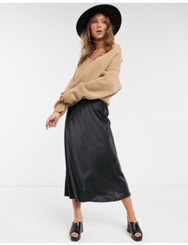 Topshop Ribbed Cardigan Co Ord In Camel by Topshop