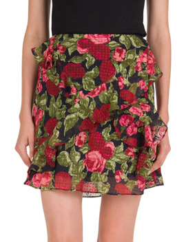 Floral Print Frill Skirt by The Kooples
