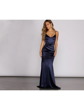 Emilia Draped Satin Gown by Windsor