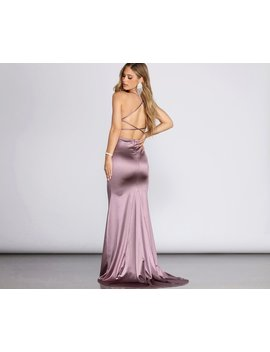 Nola Darling Satin Evening Gown by Windsor